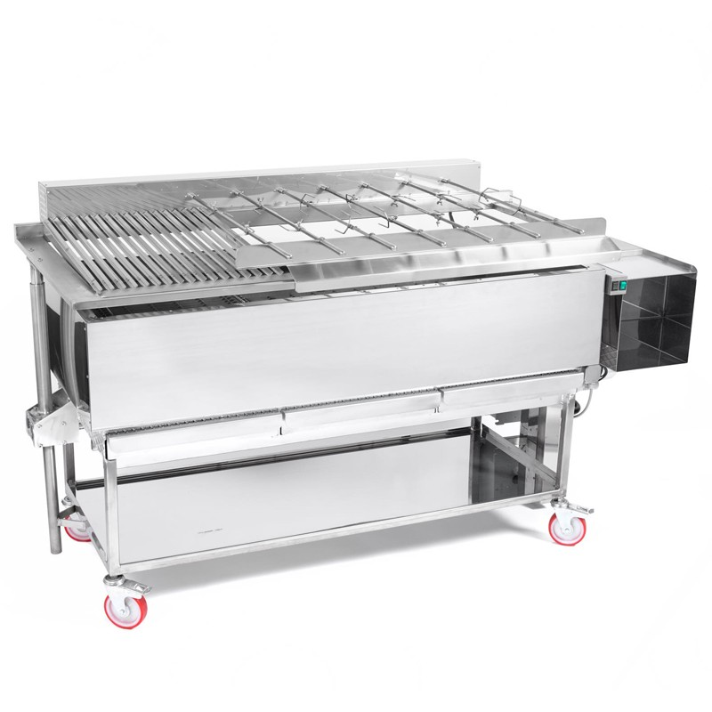 BBQ Churrasco Professionale con spiedi e griglia