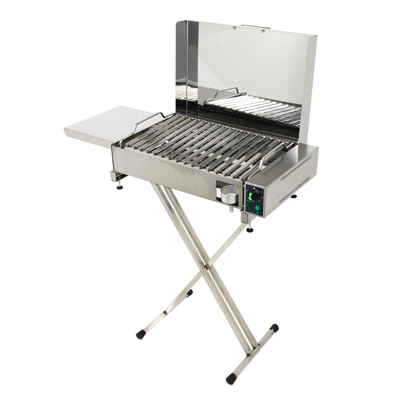 Barbecue elettrico con griglia in angolari