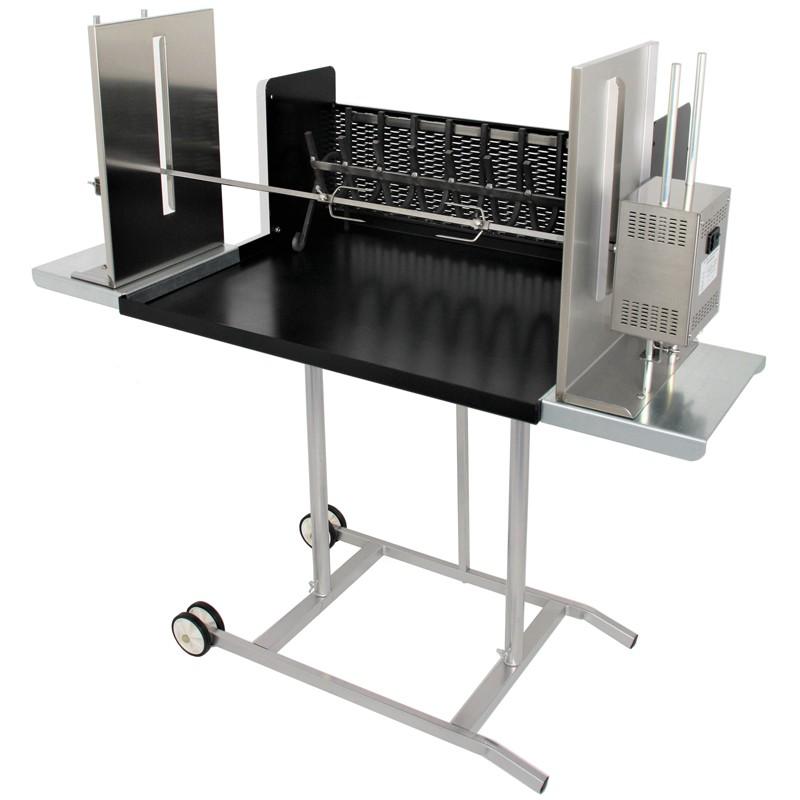 Barbecue Maxi con girarrosto elettrico e spiedo in acciaio inox 304