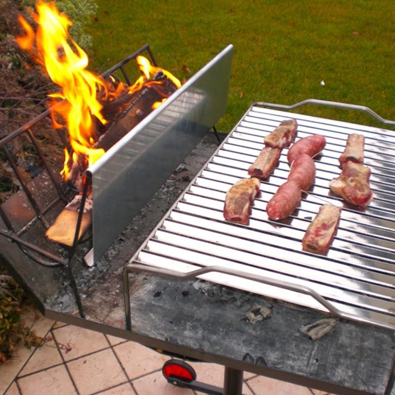 Barbecue a legna con griglia in acciaio inox 304