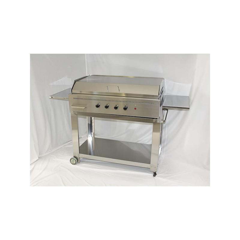 Barbecue a gas Professional con piastra ondulata in acciaio inox 304