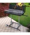 Barbecue Maxi con griglia in tondino in acciaio inox 304