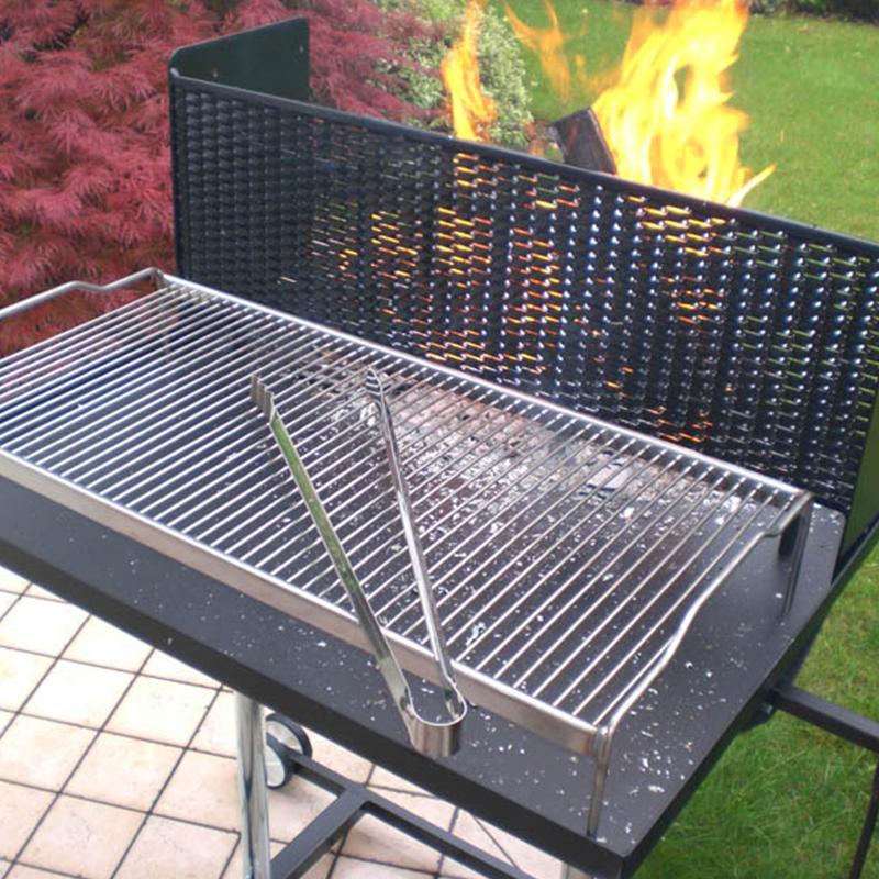 griglia in tondino in acciaio inox 304 per Barbecue Maxi