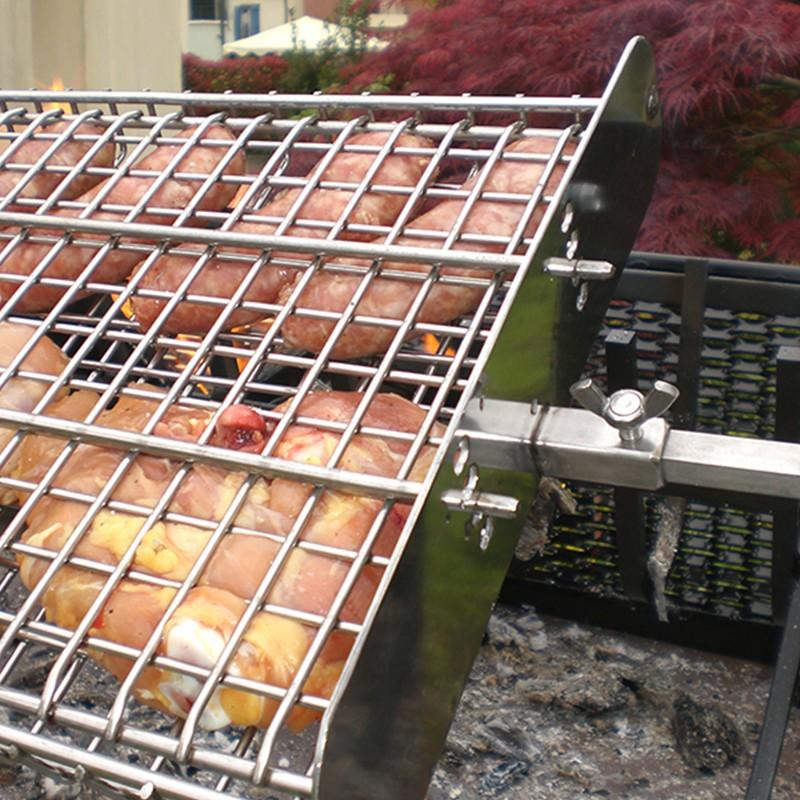 Griglia girevole in acciaio inox 304